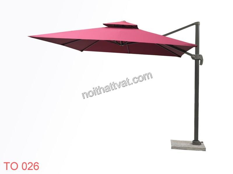 Ô lệch tâm - mẫu ô có thân dù và tán dù không nằm trên một trục thẳng